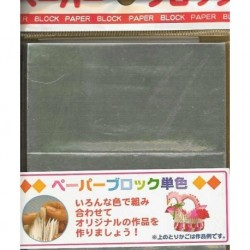 050 mm_ 250 sh - Silver Foil Block Modular Paper