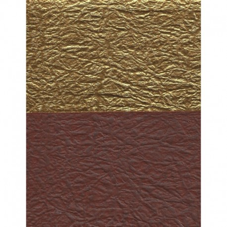 Origami Paper Double-Sided Brown and Gold Momigami Washi- 075 mm-40 sh