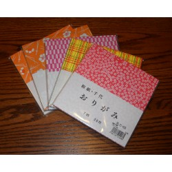 Origami Paper Seven Patterns of Washi - 150 mm - 56 sheets - Bulk