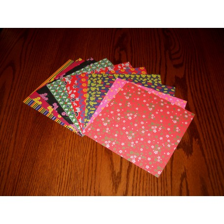 Origami Paper Mix Prints of Chiyogami - 178 m - 25 sheets