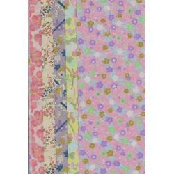 240 mm_   5 sh - Pastel Pattern Washi Paper