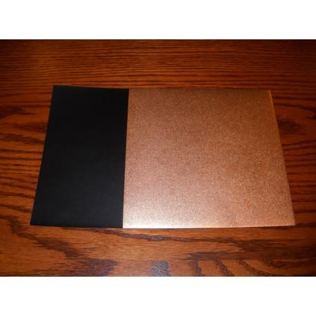 075 mm_   40 sh - Copper Metallic and Black Washi Paper