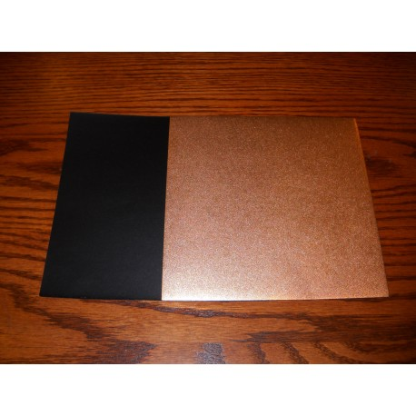 Origami Paper Copper Metallic and Black Washi  - 075 mm -  40 sheets