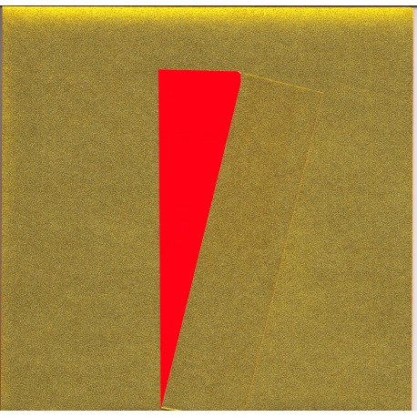 075 mm_   40 sh - Gold Metallic and Red Washi Paper