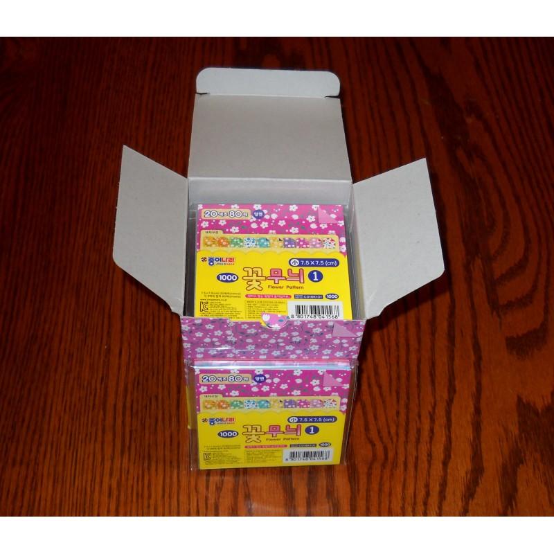 Origami Paper Flower Pattern 075 Mm 80 Sh Bulk