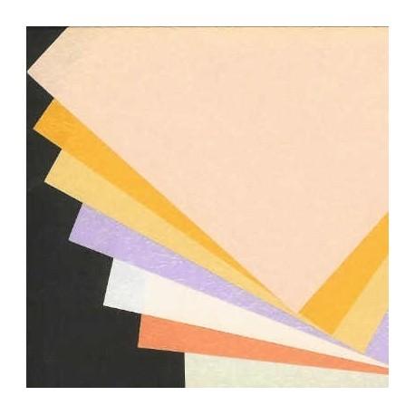 Origami Paper Pearl Sheen Momigami Washi  - 150 mm -  7 sheets