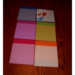 150 mm_  10 sh - Crepe Paper - Double Sided Mix Colors