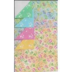 075_128 sh - Fleur Twin Color Chiyogami Paper