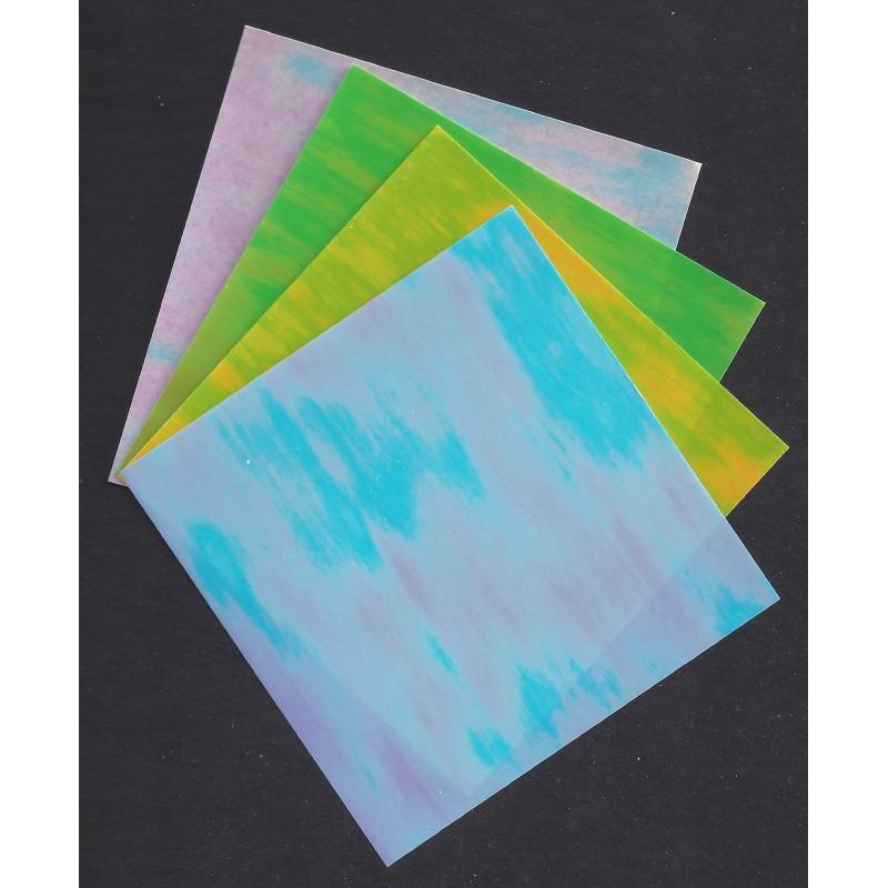 150 mm 8 sh aurora pearlescent origami paper bulk