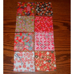 Origami Paper High Quality Washi Eight Designs - 075 mm -  80 sheets