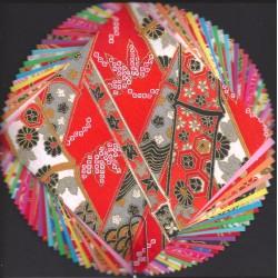 Origami Paper Kyo-Zome Washi - 085 mm -  32 sheets