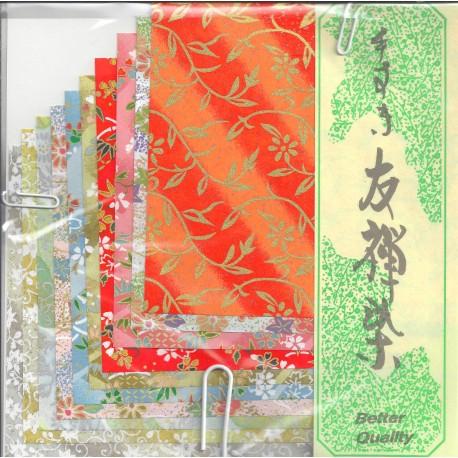 120 mm_  10 sh - Mix Print Washi Paper