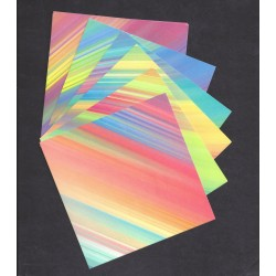 120 mm_  24 sh - Tie Dyed Pattern Origami Paper