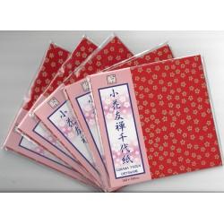 150 mm_   5 sh - Cobana Yuzen Chiyogami Washi Paper - Bulk