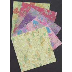 150 mm_   5 sh - Gold Sparkle Washi Paper
