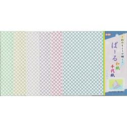 150 mm_  12 Sh - Checkered Print Washi Paper