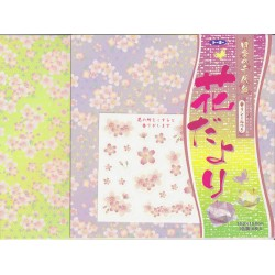 Origami Paper Cherry Blossom Pattern With Fragrance - 150 mm - 16 sheets