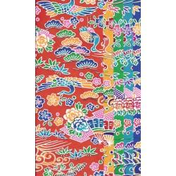 240 mm_   5 sh - Same Pattern Katazome Bingata Washi Paper