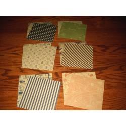 150 mm/  60 sh - Designed Kraft Chiyogami Origami Paper