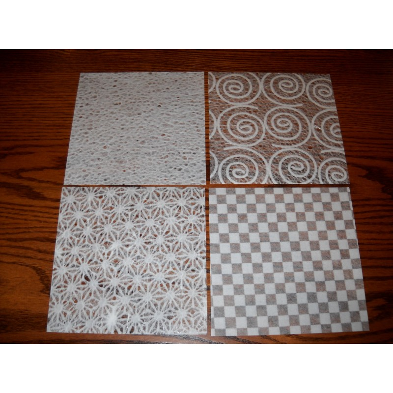 Mulberry or Unryu White Folk Art Paper - 150 mm - 12 sheets