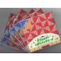 Origami Paper Double Sided Patchwork Shibori -150 mm -  24 sheets -Bulk