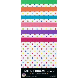 Origami Paper Colorful Dot Chiyogami - 150 mm -  36 sheets