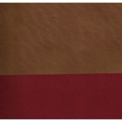 053 mm_   50 sh - Kraft Paper - Gold Wave Reverse Side Red