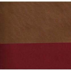 053 mm_   50 sh - Kraft Paper - Gold Wave Reverse Side Red
