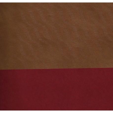 Kraft Paper - Gold Wave Reverse Side Red - 053 mm - 50 sheets