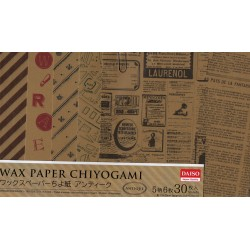150 mm/  30 sh - Wax Chiyogami Origami Paper
