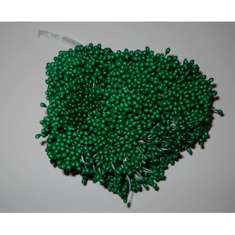 Artificial Flower Stamens Bulk - Dark Green - 2021