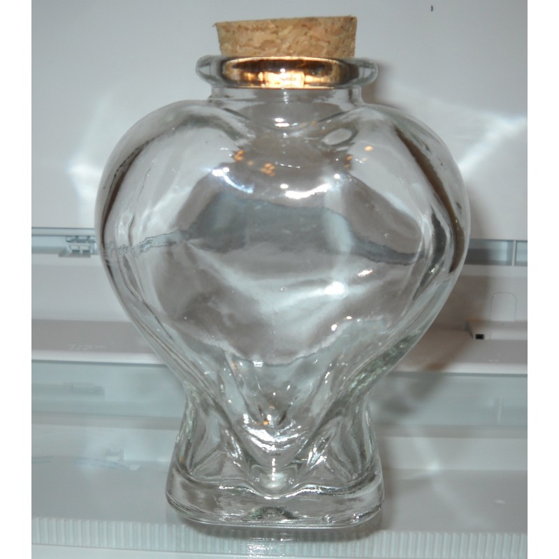 Large Heart Shaped Jar With Cork Top Kims Crane