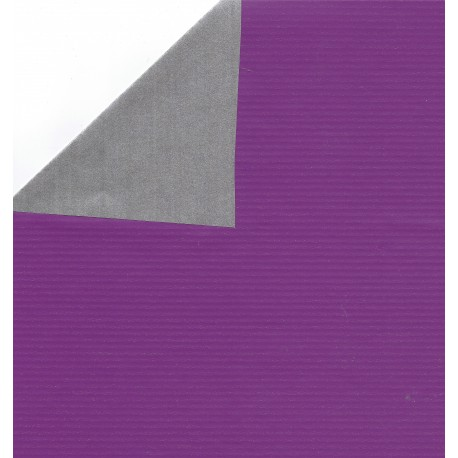 Kraft Paper Double Sided Purple and Silver - JR-B980 - 300 mm - 8 sheets