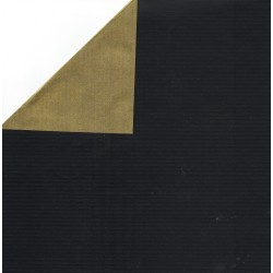 600 mm - Kraft Paper Black and Gold - JR-B797