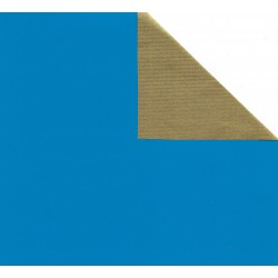 Kraft Paper Double Sided Blue and Gold - JR-B982 - 150 mm -  28 sheets