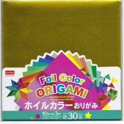 Origami Paper 10 Colors Foil - 150 mm -  30 sheets