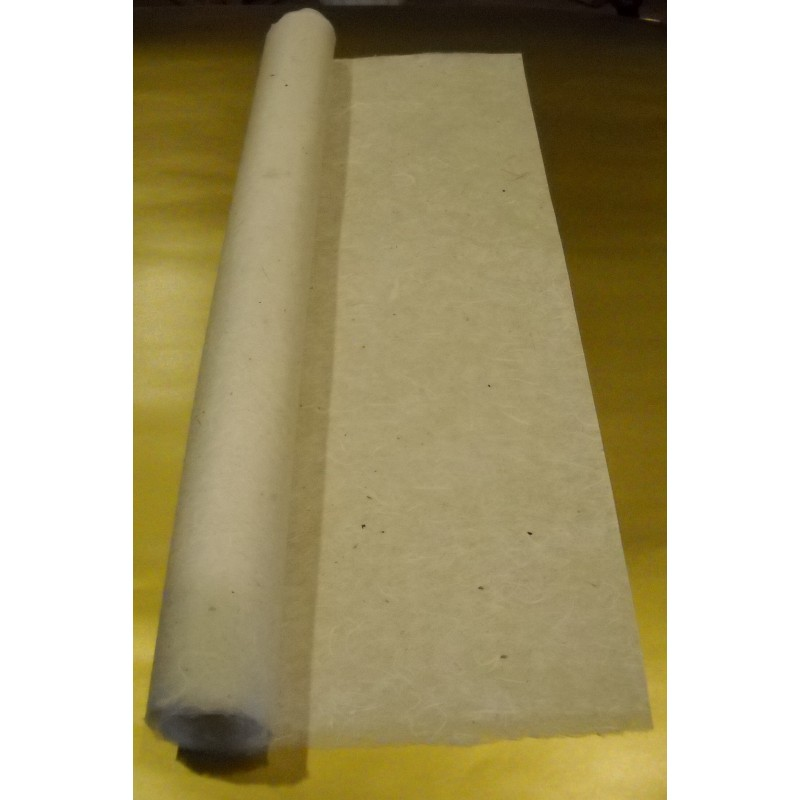 Dirty White Unryu Mulberry Kozo Paper With White Strands