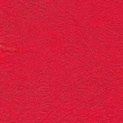 Wrinkle Fancy Red Unryu Mulberry Paper With Gold Brush