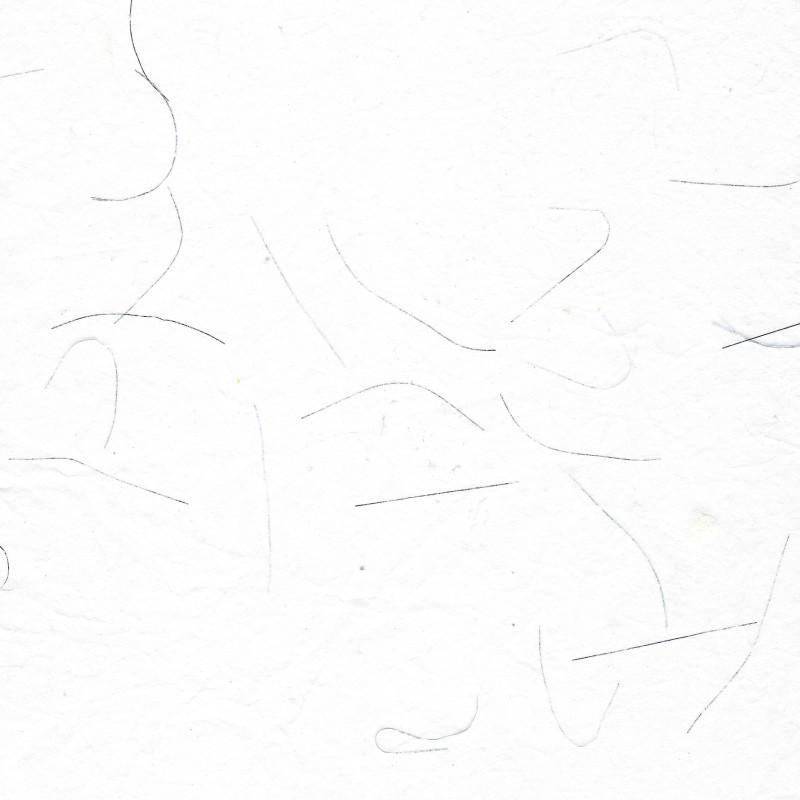 White Unryu With Silver Strands Mulberry Kozo Paper