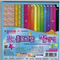 150 mm - 100 sh - Origami Paper Hologram and Pearl Double Sided