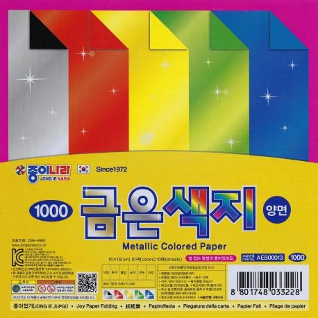 Origami Paper Metallic Color - 150 mm - 5 sheets