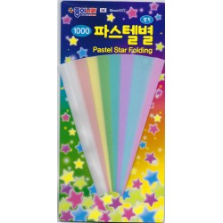150 cm - 120 sh - Origami Paper Pastel Star Folding Strips