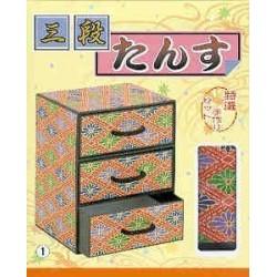 Tokusen Tetsukuri Three Chest Drawer Washi Kit
