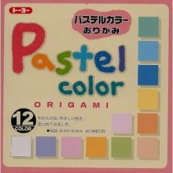 150 mm_  60 sh - Origami Paper Pastel Plain Colors