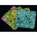 Origami Paper Foil With Peanuts Print - 075 mm - 12 sheets