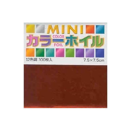 075 mm_ 100 sh - Mini Color Foil Paper