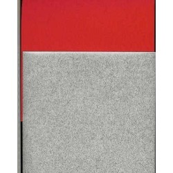 Origami Paper Silver and Red Washi - 075 mm -  40 sheets