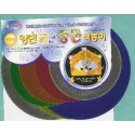 100 mm_   6 sh - Double -Sided Round Foil Paper