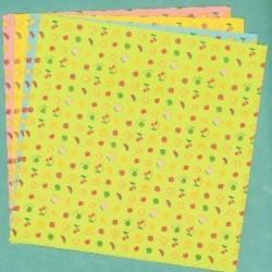 150 mm_  12 sh - Fruit Print Origami Paper