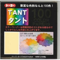 Origami Paper TANT Paper 100 Different Colors - 150 mm -100 sheets